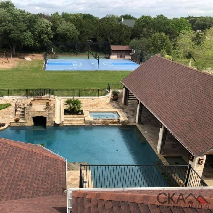 Overview Look of a House and Large Swimming Pool